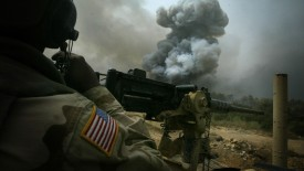 American Army Power Smoke Soldiers Heavy Weapons