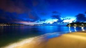 Beach At Night Hd Wallpaper HD Pic