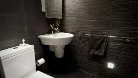 Black Modern Small Bathroom Remodel Design Ideas