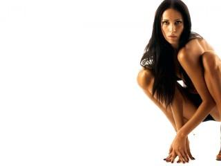 Brunettes Legs Women Panties Black Models Squatting Desktop