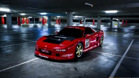 Cars Japanese Honda Red Garage Sport Speed Racer Desktop