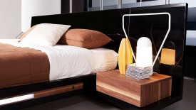 Contemporary Floating Modern Bed Set With Lights  Widescreen Wallpapers