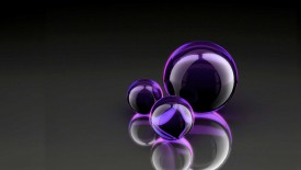 Dark Black Purple Ball