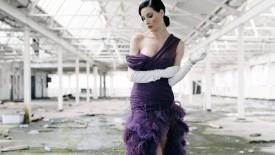 Dita Von Teese Purple Dress Brunette Sexy Hot Desktop
