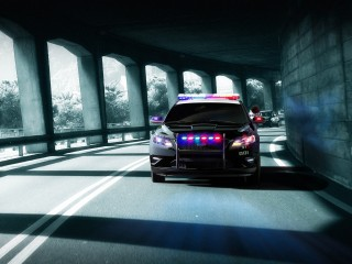 Ford Taurus Police Interceptor Front Wide Desktop
