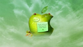 Green Apple Quote 3D Wallpaper Widescreen