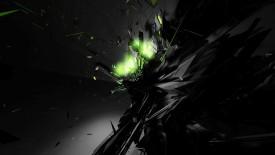 Green Black Shatter Wallpaper Widescreen
