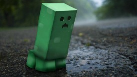 Green Minecraft Sad 3D Wallpaper Widescreen