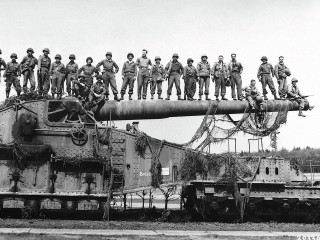 Guns Rail German Gun Allied Troppers