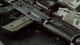 Guns Weapons Money Dual Screen Army Wall