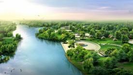 HD 3D Architecture River Bank