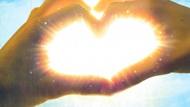 Hands Shining Hearts Love Peace Desktop