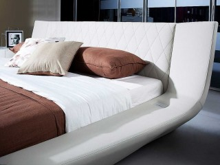 Modern Bed With Speakers And Iphone Audio Dock  Widescreen Wallpapers