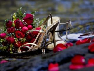 Nice Wedding Red Rose