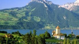 Spiez Castle Lake Thun Switzerland