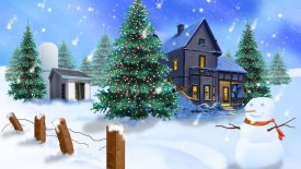 3D Christmas Wallpaper snowish wallpaper
