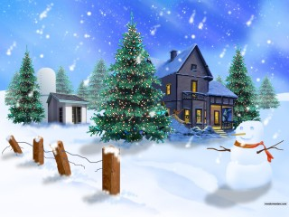 3D Christmas Wallpaper snowish wallpaper