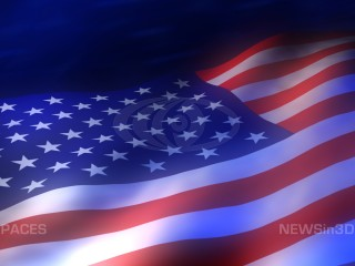 American flag animated background