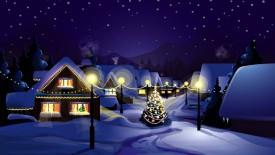 Christmas Village Hd wallpapers