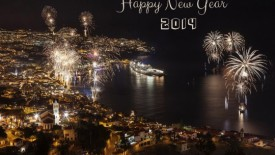 Happy New Year 2014 city wallpaper