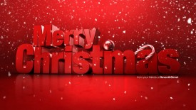 Merry Christmas wallpaper hd red background