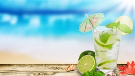 Mojito Lime Glass Hd Widescreen Desktop Wallpaper