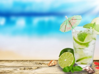 Mojito Lime Glass Hd Widescreen Desktop Wallpaper