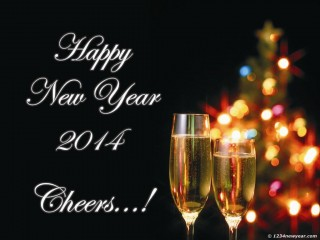 New Year Champagne Wallpaper 2014