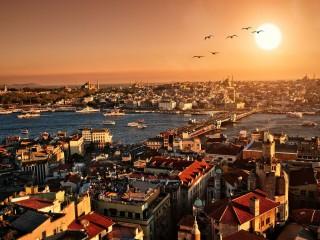 istanbul city iphone panoramic wallpaper