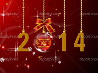 new year 2014 christmas wallpaper