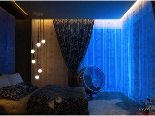 2014 Cute Blue Bedroom Paints Color Modern  Widescreen Wallpapers