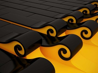 3d Wallpaper Yellow