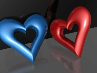 3d Wallpapers Red Blue
