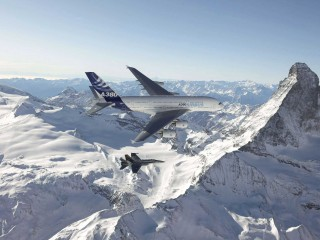 Airbus A380 In The Air Widescreen Wallpaper