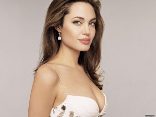 Angelina Jolie Hot Babe White Dress Pretty Woman Desktop