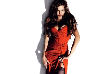 Angelina Jolie Hot Red Dress Brunette Actress Angelina Jolie Desktop