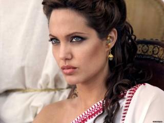 Angelina Jolie Movie Scenes Hot Look Brunette Woman Desktop