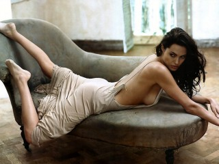 Beautiful Brunette Angelina Jolie Hot Babe Angelina Jolie Desktop