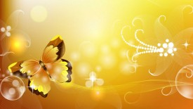 Beautifull Yellow Butterfly Abstract Wallpaper