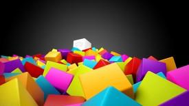 Big Cubes Any Color 3D Wallpaper Widescreen