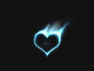 Blue Love Fire Burning Heart Flame Desktop