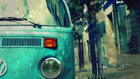 Blue Van Bus Vw Volkswagen280x800 Desktop