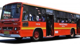 Bus With Orange line