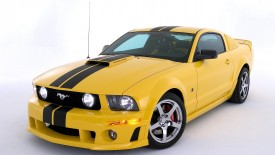 Cars Ford Mustang Yellow Power Desktop