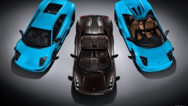Cars Lamborghini Black Blue Desktop