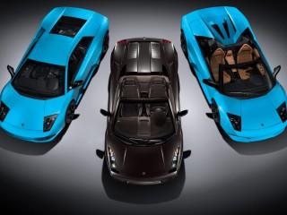 Cars Lamborghini Black Blue Desktop