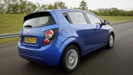 Chevrolet Aveo Rear Angle Wide Desktop