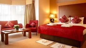 Classy Red Bedroom