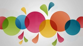 Colorful Circles Widescreen Wallpaper