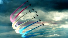 Colorful Smoke Air Show High Definition Wallpapers